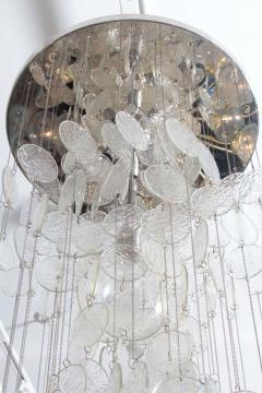 A V Mazzega Mazzega Multi Strand Glass Disc Chandelier - 1905318