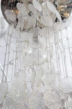 A V Mazzega Mazzega Multi Strand Glass Disc Chandelier - 1905320