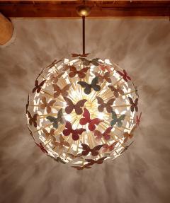 A V Mazzega Mid Century Modern Murano butterfly sputnik chandelier colored through light - 1813615