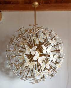 A V Mazzega Mid Century Modern Murano butterfly sputnik chandelier colored through light - 1813617