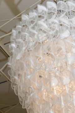 A V Mazzega Monumental Italian Modern Glass Chandelier Mazzega - 37650