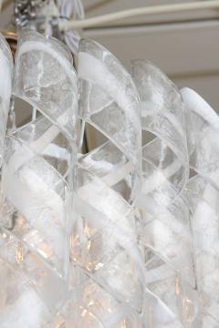 A V Mazzega Monumental Italian Modern Glass Chandelier Mazzega - 37651
