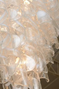 A V Mazzega Monumental Italian Modern Glass Chandelier Mazzega - 37652