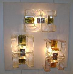 A V Mazzega Murano Glass Wall Sconces by Mazzega - 255722