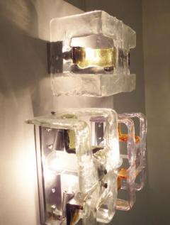 A V Mazzega Murano Glass Wall Sconces by Mazzega - 255724