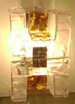 A V Mazzega Murano Glass Wall Sconces by Mazzega - 255725