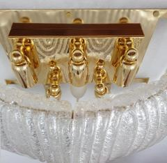 A V Mazzega Pair of Large Mid Century Modern Murano clear glass sconces by Mazzega Italy - 1954310