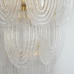 A V Mazzega Pair of Large Mid Century Modern Murano clear glass sconces by Mazzega Italy - 1954317