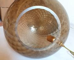 A V Mazzega Pair of large Murano glass globe table lamps Mid Century Modern Mazzega style - 1355368