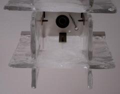 A V Mazzega Small Scale Interlocking Glass Flush Mount Pendant Light - 254025