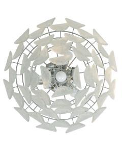 A V Mazzega Vintage Murano Leaf Chandelier Pendant Attributed to AV Mazzega Italy - 566818