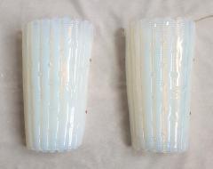 A V Mazzega Vintage Opaline Murano glass sconces Mazzega style Italy 1970s 2 pairs - 2008236