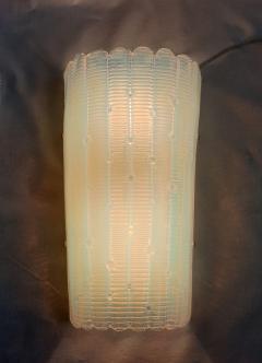 A V Mazzega Vintage Opaline Murano glass sconces Mazzega style Italy 1970s 2 pairs - 2008238