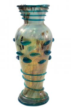 A Ve M Large Hand Blown Glass Vase by Arte Vetraria Muranese A V E M  - 202398