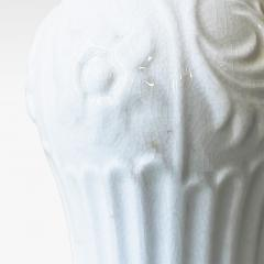 ALP Lidk ping Art Deco Table Lamp in white Craquel Glaze with Gilding by Tyra Lundgren - 1934211