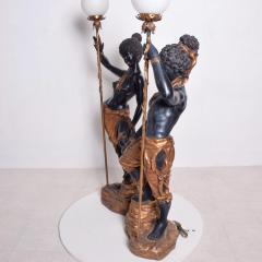 ARP Pair of Italian Torchiere Floor Lamps by ARP in Goldleaf Blackamoor - 1170683