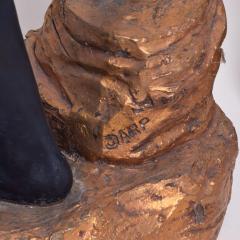 ARP Pair of Italian Torchiere Floor Lamps by ARP in Goldleaf Blackamoor - 1170686