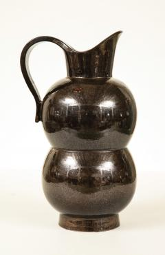 Accolay Pottery MONUMENTAL METALLIC PITCHER BY ACCOLAY - 1630119