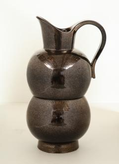 Accolay Pottery MONUMENTAL METALLIC PITCHER BY ACCOLAY - 1630126