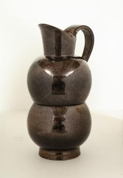 Accolay Pottery MONUMENTAL METALLIC PITCHER BY ACCOLAY - 1630128