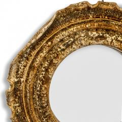 Accolay Pottery Mirror with Ceramic Cartouche Fram by Accolay Potter - 1099782