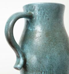 Accolay Pottery Signed Accolay Blue Ceramic Milk Pitcher - 1326725