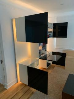 Acerbis International Roberto Monsani Life Illuminated Backlit Wall Unit for Acerbis Italy 1975 - 1672206