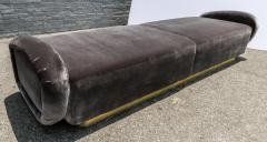 Adesso Studio Custom 1960s Italian Style Velvet Sofa or Bench with Brass Base - 1498913