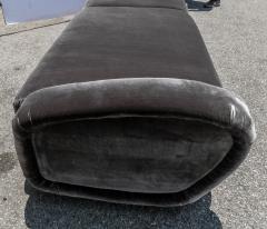 Adesso Studio Custom 1960s Italian Style Velvet Sofa or Bench with Brass Base - 1498919