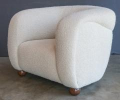 Adesso Studio Custom Barrel Lounge Chair in Ivory Boucle by Adesso Imports - 1793092