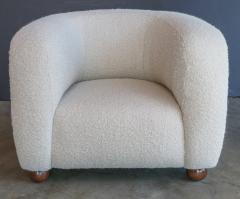 Adesso Studio Custom Barrel Lounge Chair in Ivory Boucle by Adesso Imports - 1793093