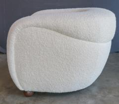 Adesso Studio Custom Barrel Lounge Chair in Ivory Boucle by Adesso Imports - 1793094