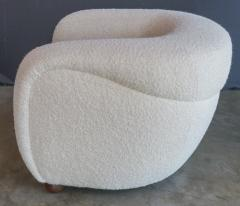 Adesso Studio Custom Barrel Lounge Chair in Ivory Boucle by Adesso Imports - 1793095