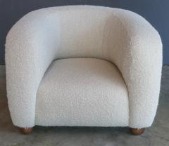 Adesso Studio Custom Barrel Lounge Chair in Ivory Boucle by Adesso Imports - 1793096