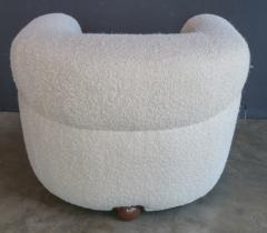 Adesso Studio Custom Barrel Lounge Chair in Ivory Boucle by Adesso Imports - 1793097