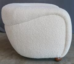 Adesso Studio Custom Barrel Lounge Chair in Ivory Boucle by Adesso Imports - 1793098