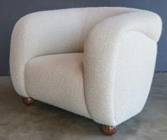 Adesso Studio Custom Barrel Lounge Chair in Ivory Boucle by Adesso Imports - 1793099