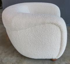 Adesso Studio Custom Barrel Lounge Chair in Ivory Boucle by Adesso Imports - 1793101