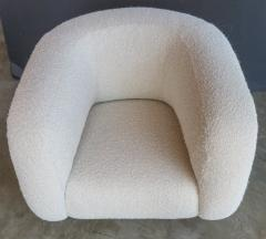 Adesso Studio Custom Barrel Lounge Chair in Ivory Boucle by Adesso Imports - 1793102