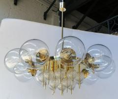 Adesso Studio Custom Mid Century Style Brass Chandelier with Clear Glass Balls - 1762601