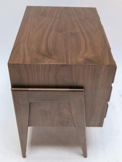 Adesso Studio Custom Mid Century Style Walnut Nightstands with Three Drawers - 1140877