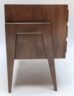 Adesso Studio Custom Mid Century Style Walnut Nightstands with Three Drawers - 1140886