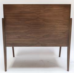 Adesso Studio Custom Mid Century Style Walnut Nightstands with Three Drawers - 1140887