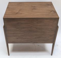 Adesso Studio Custom Mid Century Style Walnut Nightstands with Three Drawers - 1140888