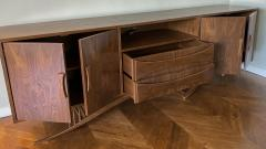Adesso Studio Custom Mid Century Style Walnut Sideboard with Curved Leg - 1498884