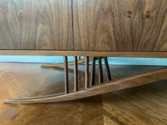Adesso Studio Custom Mid Century Style Walnut Sideboard with Curved Leg - 1498889