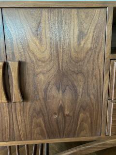 Adesso Studio Custom Mid Century Style Walnut Sideboard with Curved Leg - 1498893