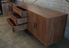 Adesso Studio Custom Mid Century Style Walnut Sideboard with Curved Leg and Three Drawers - 1589468