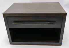 Adesso Studio Custom Midcentury Style Dark Oak Nightstand - 1851223