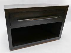 Adesso Studio Custom Midcentury Style Dark Oak Nightstand - 1851229